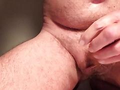 Masturbation with precum and cum