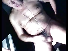 grandpa play with dildo on cam
