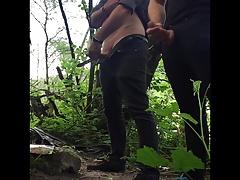 Hidden cam: two stangers suck my dick in public