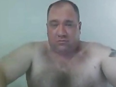 Hot daddy bear shooting a nice load