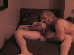 Bear John sucks off his cum again