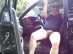 jacking off in the truck