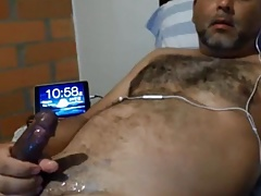 Hairy daddy shooting