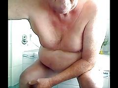 grandpa play with a dildo on cam