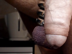 Quick Prostate massage with a lubricated Steel Probe,