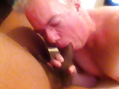 Big Fat Black Dude Blows Load in My Whore Hole