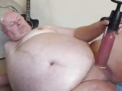 sexy grandpa pump cock on cam