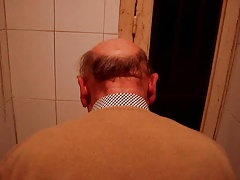 Grandpa Fucking His Hot hole And Cumming Bareback