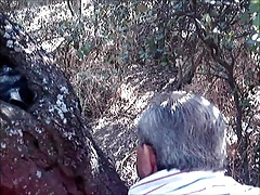 Silver And Big Ass Grandpa Fuck In The Forest