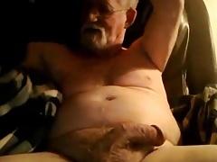 Grandad enjoys cumming