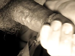 Dad plays with his cock