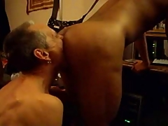White Dad breeds Black twink eats creampie
