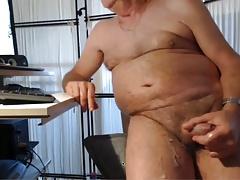 sexy grampa cums on cam