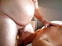 Young sub gagged by old fat master