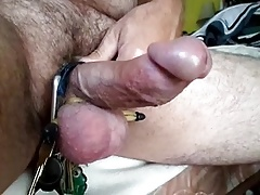 Tight balls dick stroke