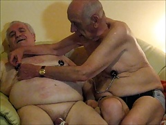 Silverhaired gay nippletorture 2