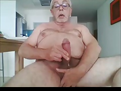 Big Cock Daddy Wanks and Cums