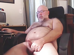 Bearded Hairy Dad Cums