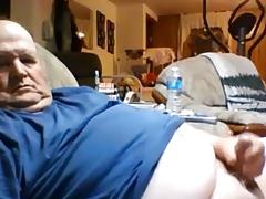 Hot grandad wanking