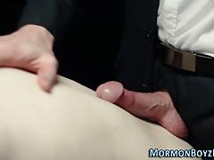 Uniformed mormon fucks