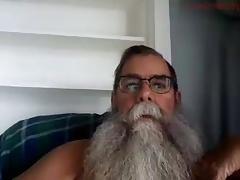 Bushy Bearded Dad Cum