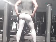 New gym - white spandex