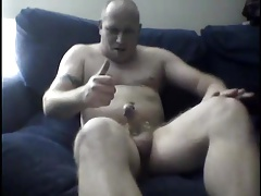 Daddy wanking with poppers