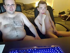 Bear fucks his younger boyfriend on cam