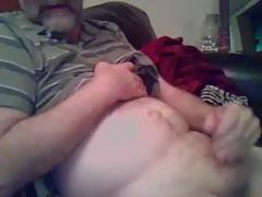 bearded mature guy cumming
