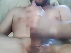 Stoky dude stroking his thick dick