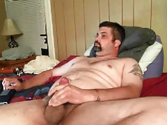 Daddy loves to play his ass with a toy