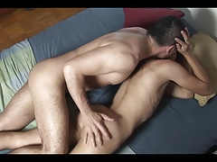 Hot twink fucked by daddy after the school