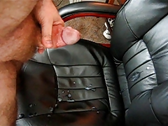 Masturbation Standing Up with Cum all over chair