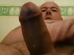 Sexy daddy with fontain cum