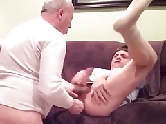 Cumming with daddy