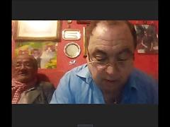 2 horny grandpas on cam