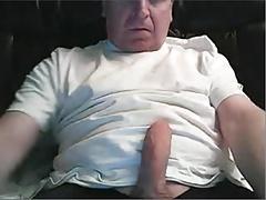 Hetero maduro se masturba en la webcam
