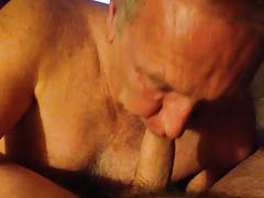 Sexy Daddy Sucks My Cock in Motel