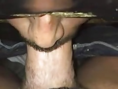 daddy goes in GH for cock suck lesson