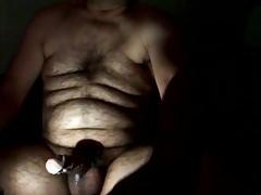 Daddy wanking in the dark