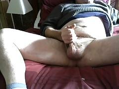 Wanking at lunchtime