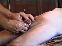 Old grandpa masturbating
