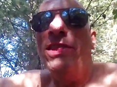 cruising...white daddy fucked by black boy in forest