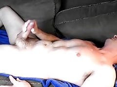 Explosive couch wank Camera angle 1