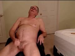 handsome grandpa wanking