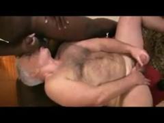 interracial daddy kiss