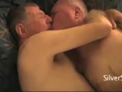 Two sexy mature old men fucking