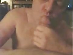 Grandpa sucking a big cock