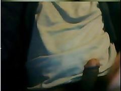 Paja de hombre maduro en la webcam