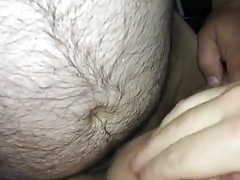 Jerry cums in his new Chubby Sub Daddy's bottom